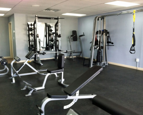weight room at evolution fitness